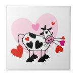 Corazones de la vaca azulejo
