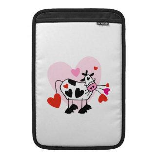 Corazones de la vaca funda para macbook air