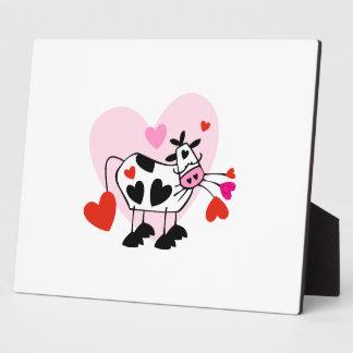 Corazones de la vaca placas de plastico