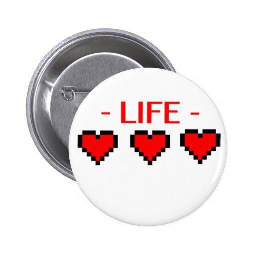 Corazones de la vida pin redondo 5 cm