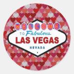 Corazones de Las Vegas del pegatina de la diversió