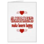 Corazones de los abuelos tarjetas