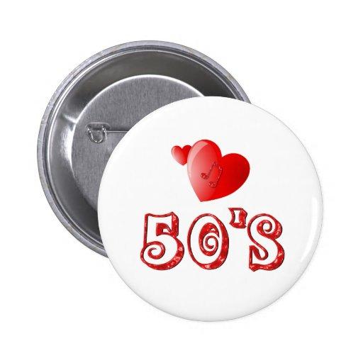 corazones de los años 50 pins