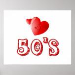 corazones de los años 50 posters