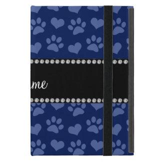 Corazones de los azules marinos e impresiones iPad mini cobertura
