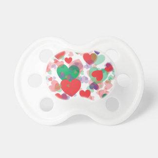 Corazones de los corazones chupetes de bebé