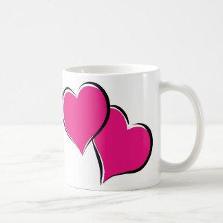 Corazones de los corazones de los corazones taza
