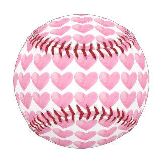 Corazones de los rosas bebés en béisbol de la
