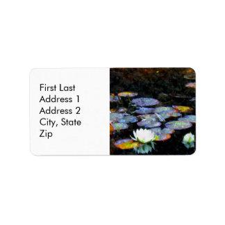 Corazones de Lotus Etiqueta De Dirección