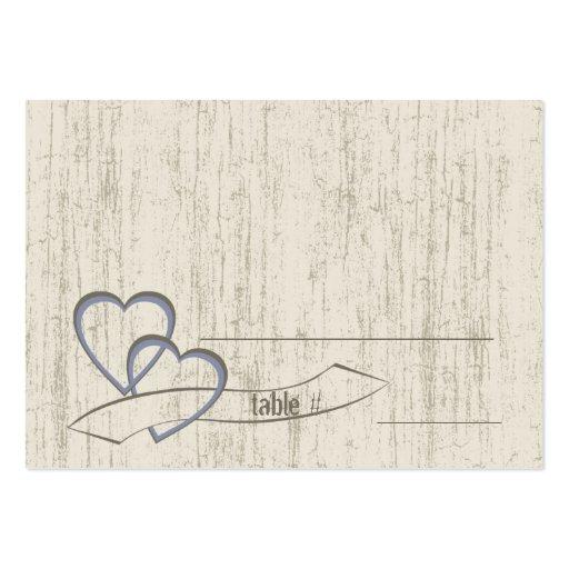 Corazones de madera del boda del granero del país tarjetas personales