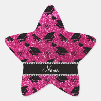 Corazones de neón conocidos personalizados de la pegatina en forma de estrella