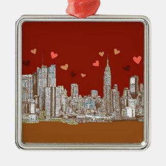 Corazones de Nueva York Ornamento Para Arbol De Navidad