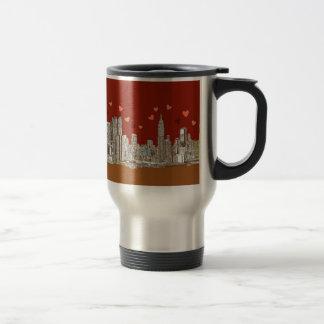 Corazones de Nueva York Taza De Café