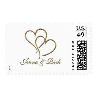 Corazones de oro sellos postales
