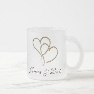 Corazones de oro taza de café