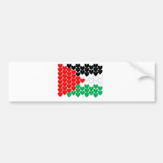 Corazones de Palestina Pegatina De Parachoque