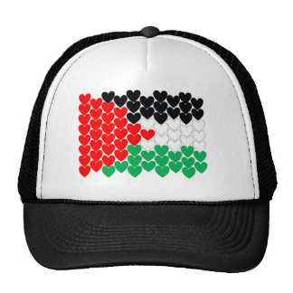 Corazones de Palestina Gorra