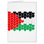 Corazones de Palestina Tarjeta De Felicitación
