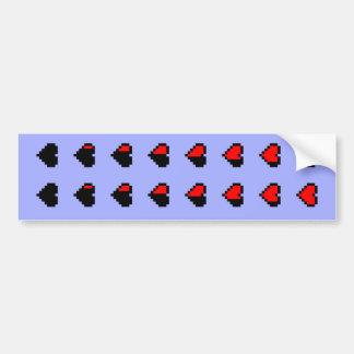 Corazones de Pixeled Pegatina Para Auto