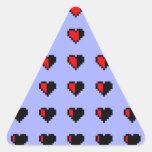 Corazones de Pixeled Calcomanía Trianguloada
