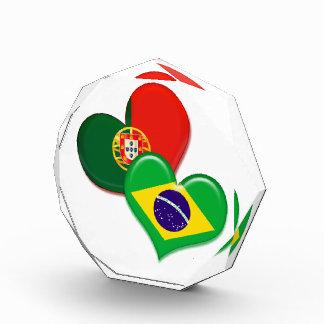 Corazones de Portugal y del Brasil