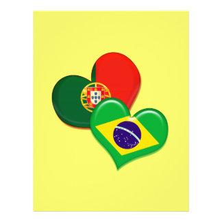 """Corazones de Portugal y del Brasil Folleto 8.5"""" X 11"""""""