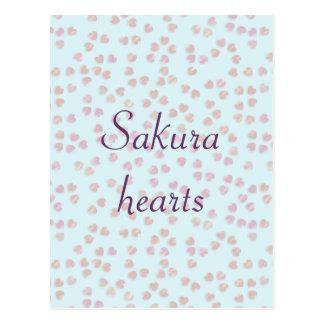 corazones de Sakura Postal