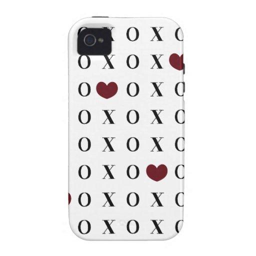 Corazones de XOXO Case-Mate iPhone 4 Fundas