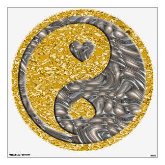 Corazones de Yin y de Yang - plata del oro