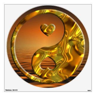 Corazones de Yin y de Yang - puesta del sol del or
