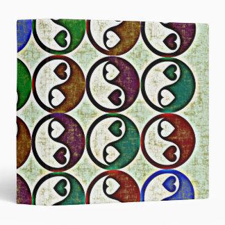 "CORAZONES de YIN YANG 1,5"" carpeta de anillo"