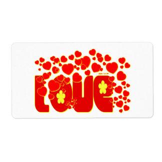 Corazones del amor - 13:34 de Juan Etiquetas De Envío