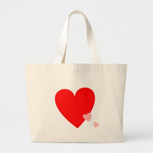 Corazones del amor bolsas de mano