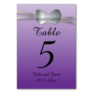 Corazones del amor de la bodas de plata púrpura y