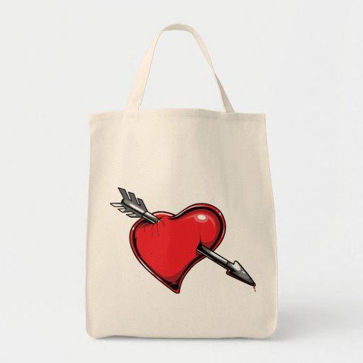 Corazones del amor de la flecha del Cupid rojo del Bolsa Tela Para La Compra