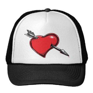 Corazones del amor de la flecha del Cupid rojo del Gorro