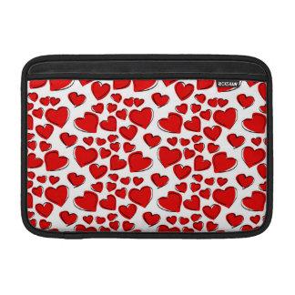 Corazones del amor de la tarjeta del día de San Funda MacBook