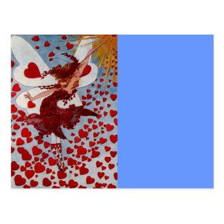 Corazones del amor de la tarjeta del día de San Tarjeta Postal