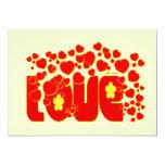 Corazones del amor - Juan 13,34 Invitación 12,7 X 17,8 Cm