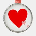 Corazones del amor ornatos