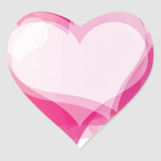corazones del amor pegatina en forma de corazón