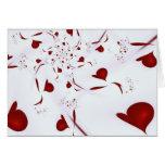 Corazones del amor tarjeta de felicitación