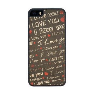 Corazones del amor te amo funda de arce carved® para iPhone 5 slim