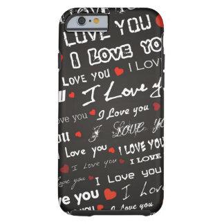 Corazones del amor te amo funda de iPhone 6 tough