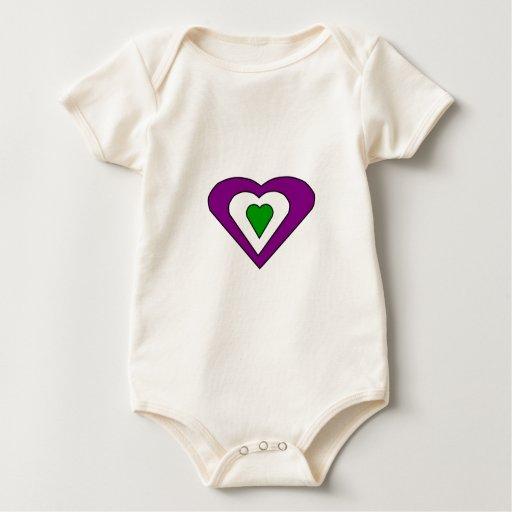Corazones del amor trajes de bebé