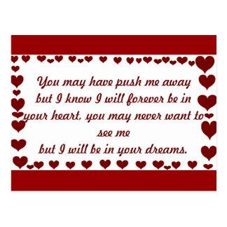 Corazones del amor y de Loved_ Postales