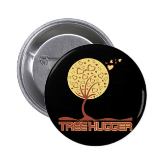 Corazones del árbol de Hugger del árbol Pin Redondo 5 Cm