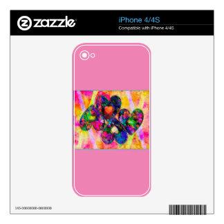 Corazones del arco iris calcomanías para el iPhone 4S