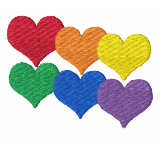 Corazones del arco iris