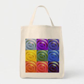 Corazones del arco iris del amor bolsa tela para la compra